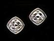 Quilted Sterling Earrings by Designer Wayne Josephson
